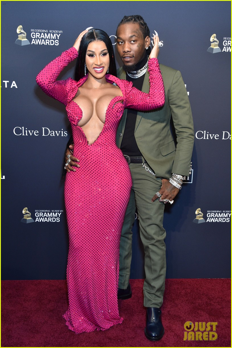Image result for cardi b and offset grammys red carpet 2020