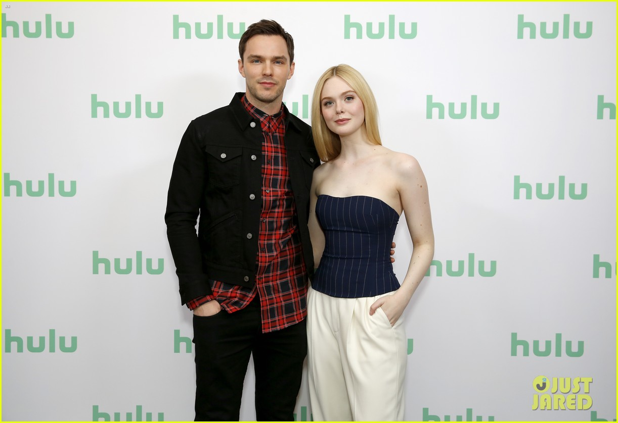 elle fanning nicholas hoult great hulu panel 024417269