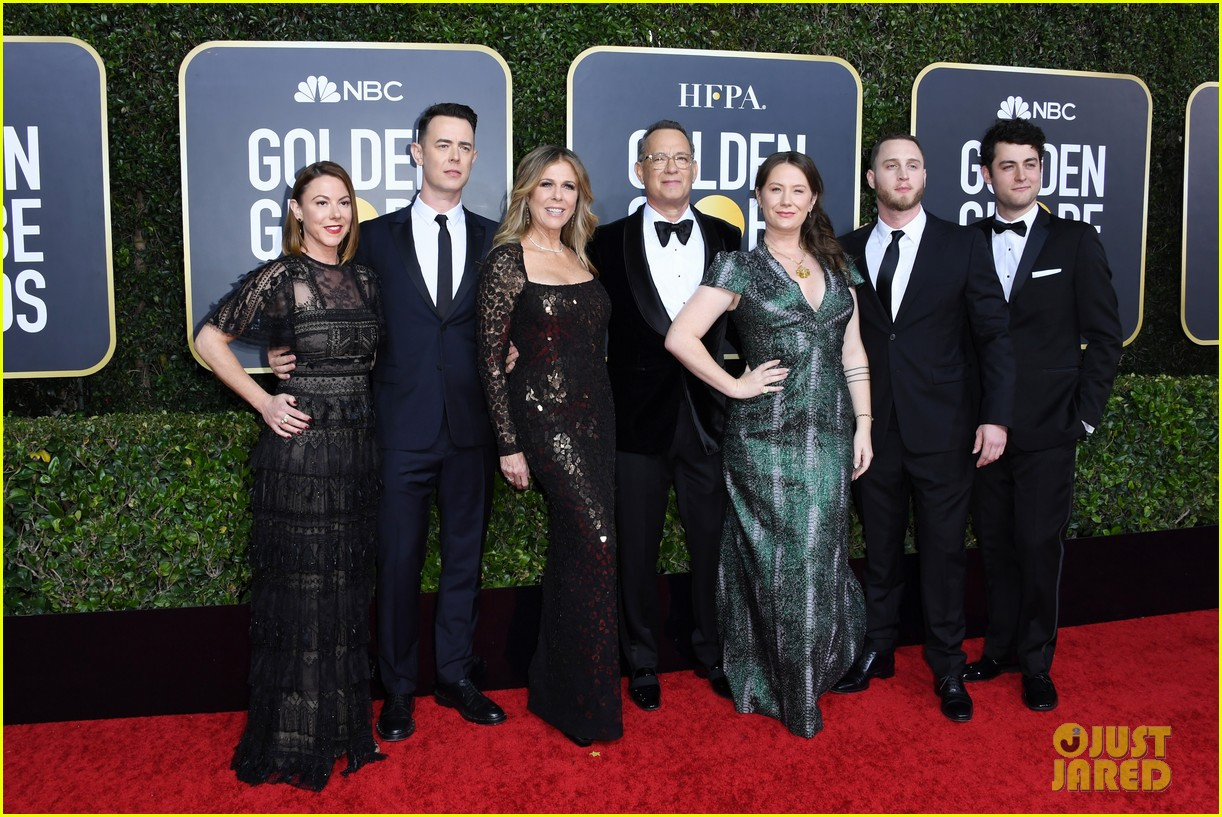 tom hanks rita wilson entire family golden globes 2020 054410257