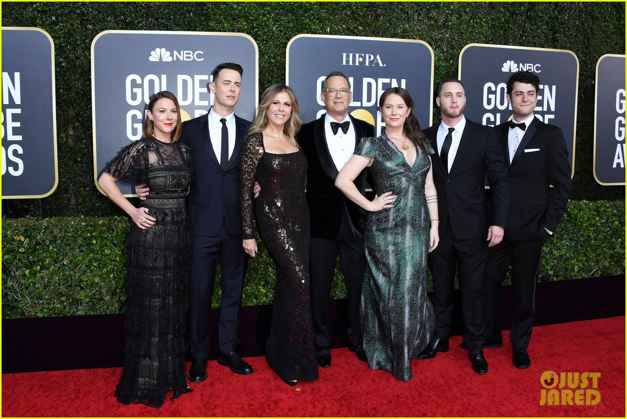 tom hanks rita wilson entire family golden globes 2020 104410262