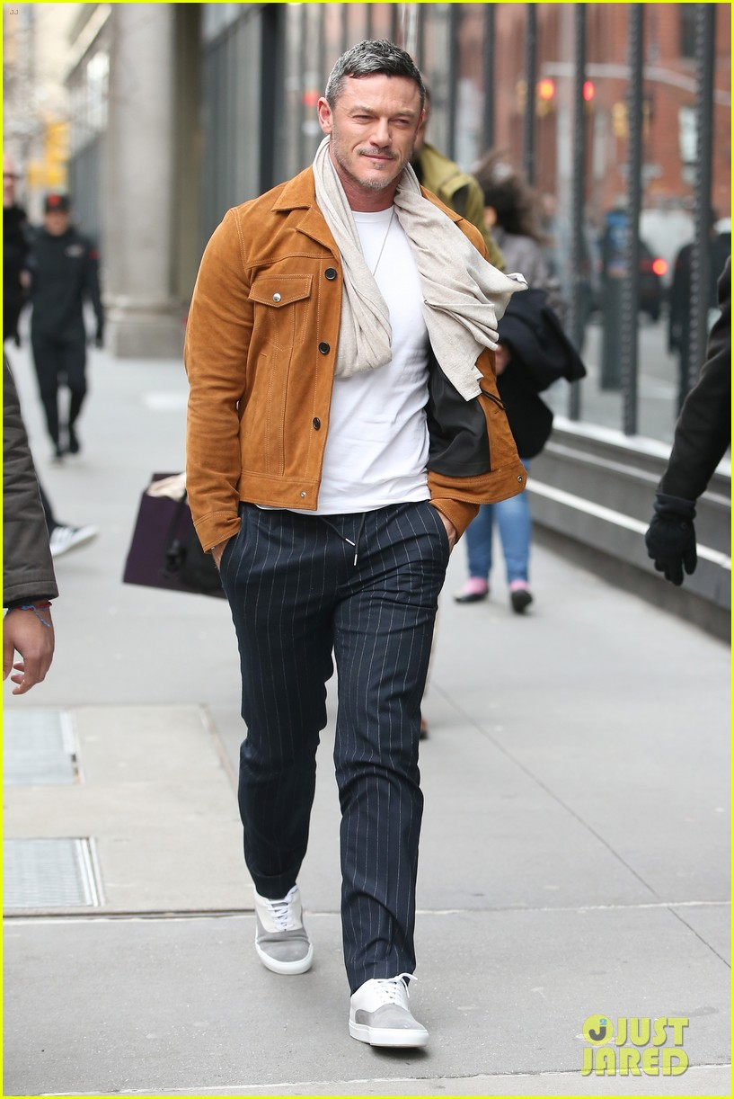 luke evans promotes his new music in nyc 014412660