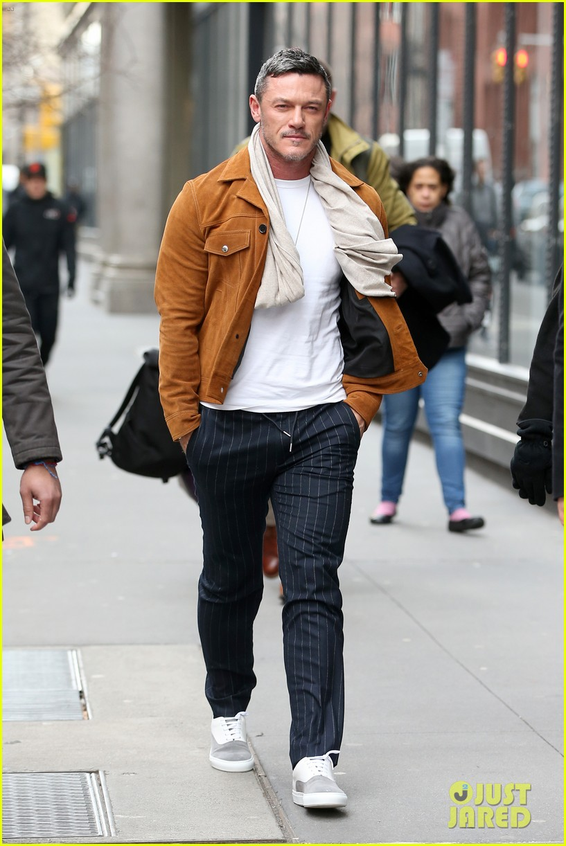 luke evans promotes his new music in nyc 054412664