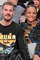 pregnant christina milian boyfriend matt pokora have date night at lakers game 03