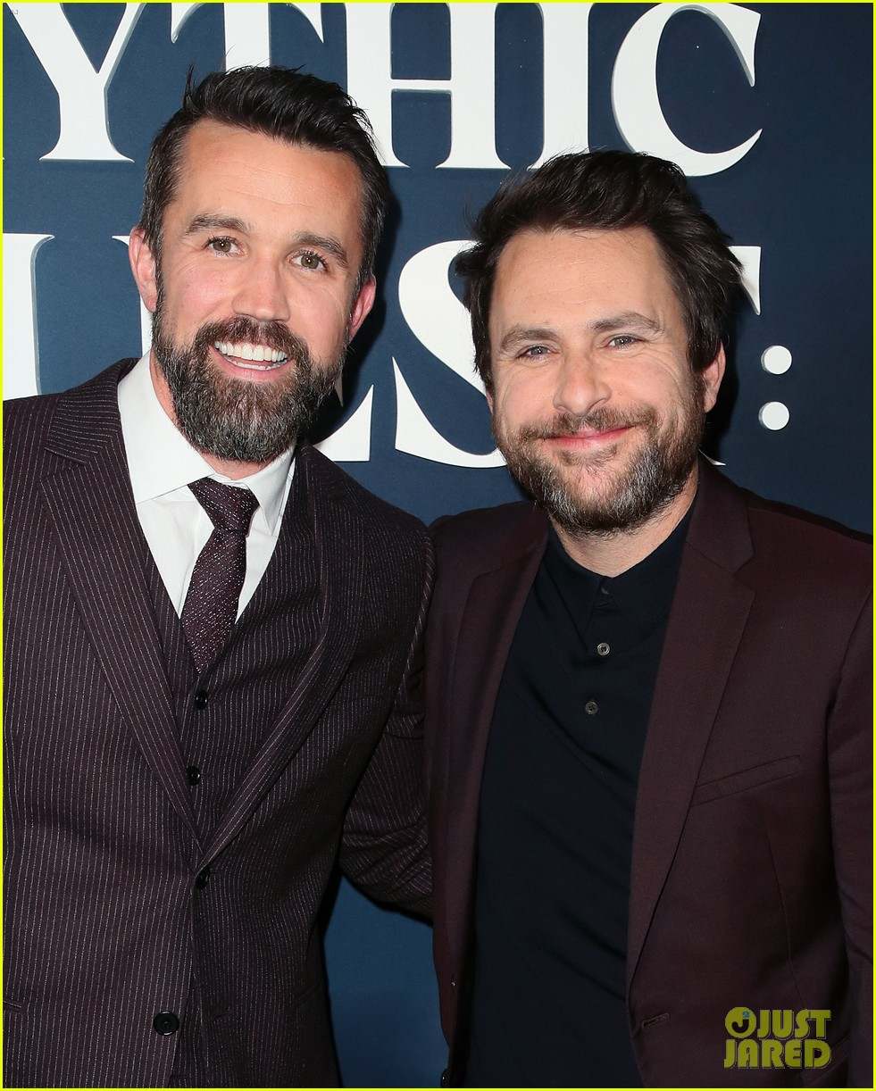 rob mcelhenney supported kaitlin olson charlie day mythic quest premiere 014425950