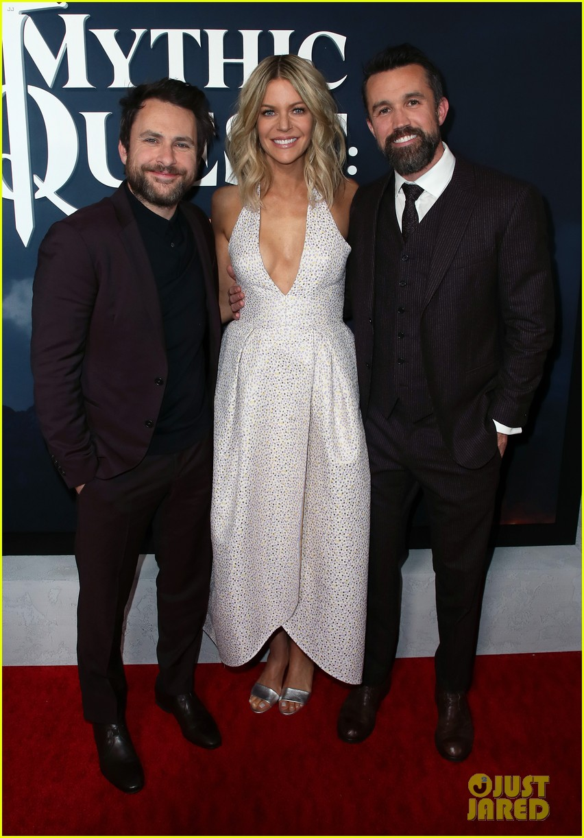 rob mcelhenney supported kaitlin olson charlie day mythic quest premiere 034425952