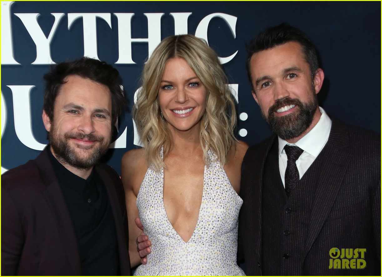 rob mcelhenney supported kaitlin olson charlie day mythic quest premiere 064425955