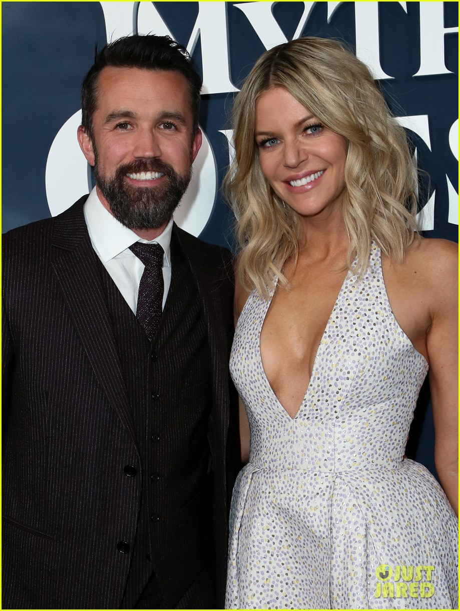 rob mcelhenney supported kaitlin olson charlie day mythic quest premiere 074425956