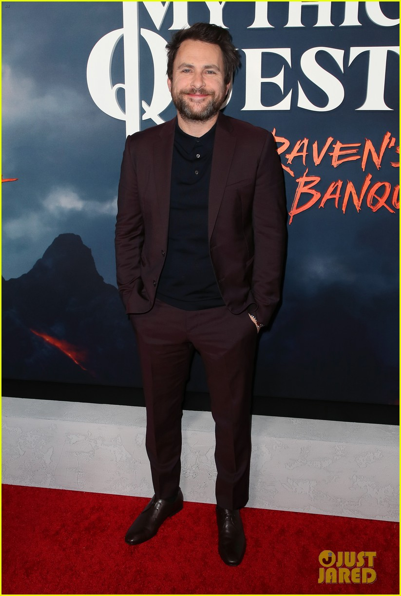 rob mcelhenney supported kaitlin olson charlie day mythic quest premiere 114425960