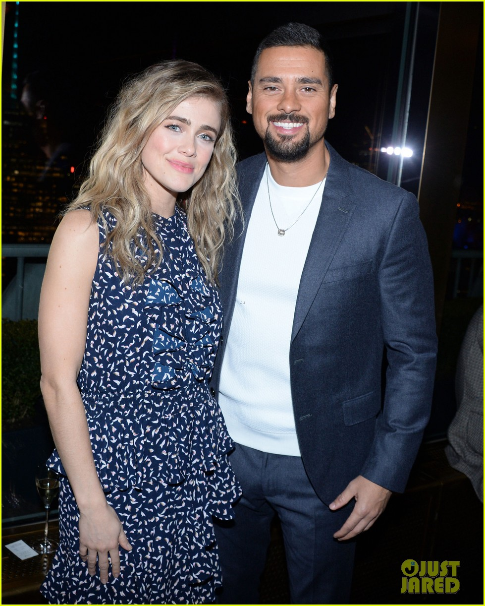 melissa roxburgh j r ramirez make their couple debut at nbc midseason party 034420976