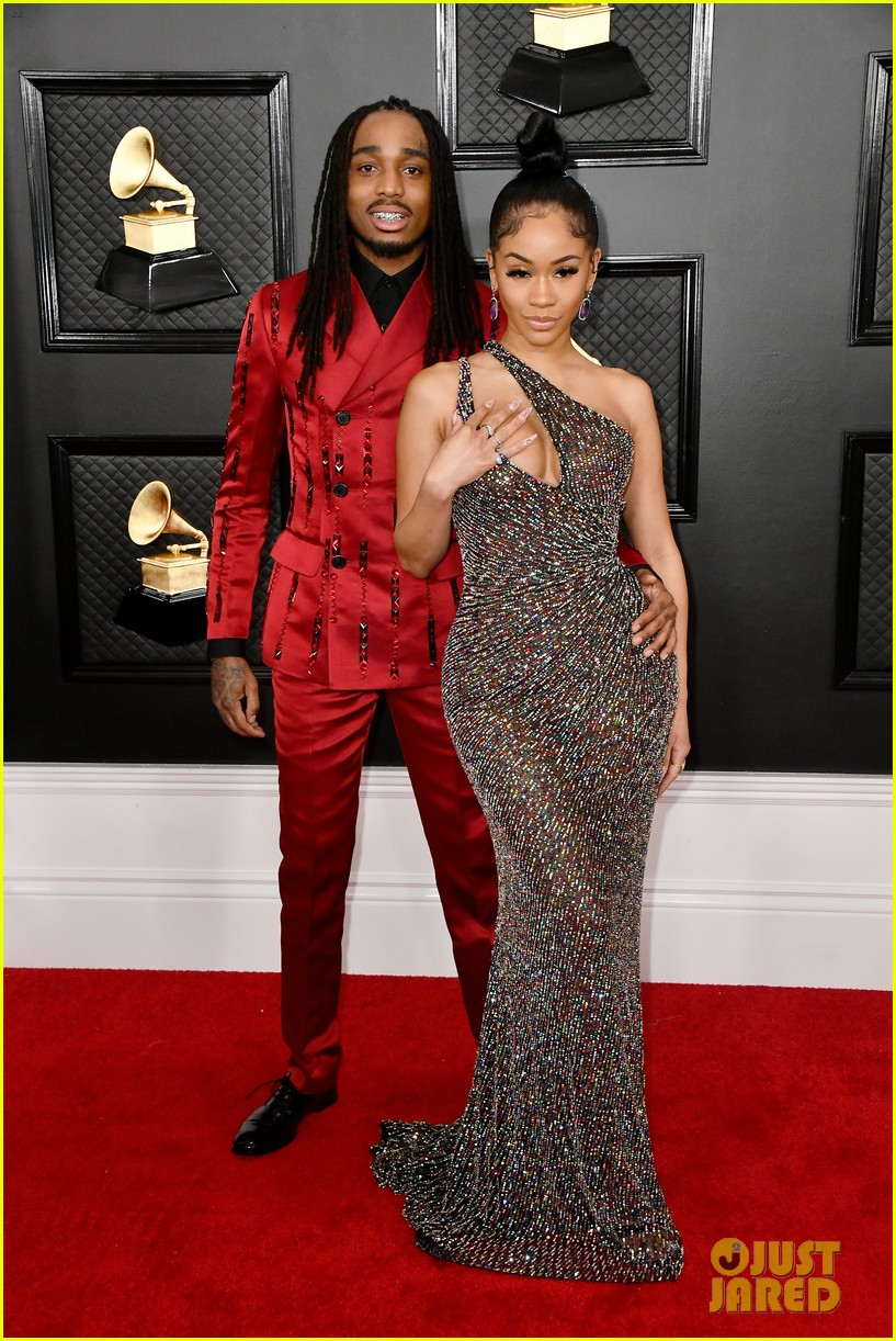 Image result for saweetie and quavo grammys red carpet 2020