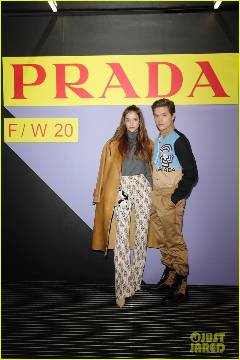 brenton thwaites joins barbara palvin dylan sprouse at prada show in milan 024415917