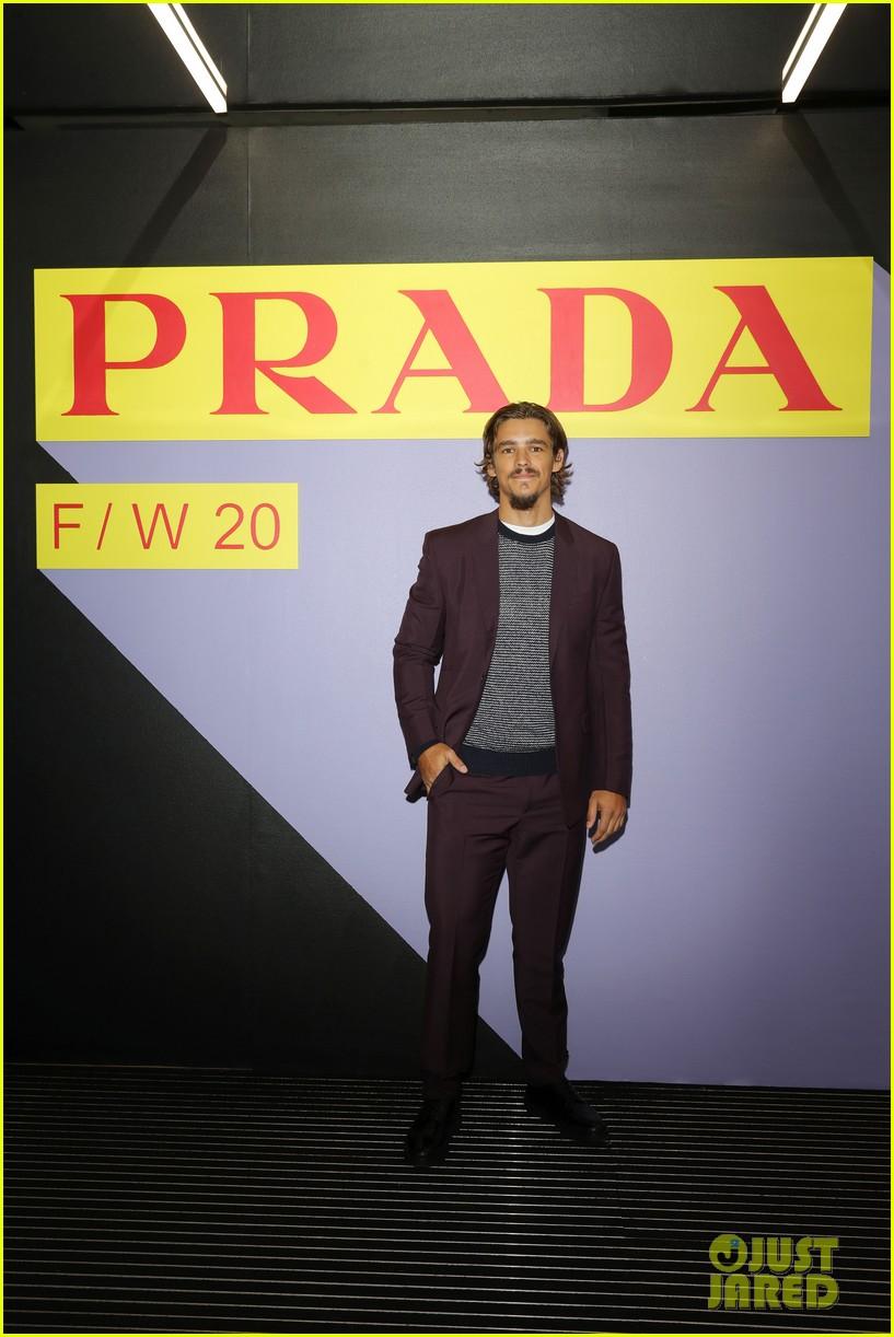 brenton thwaites joins barbara palvin dylan sprouse at prada show in milan 034415918