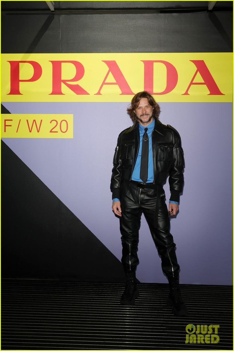 brenton thwaites joins barbara palvin dylan sprouse at prada show in milan 134415928