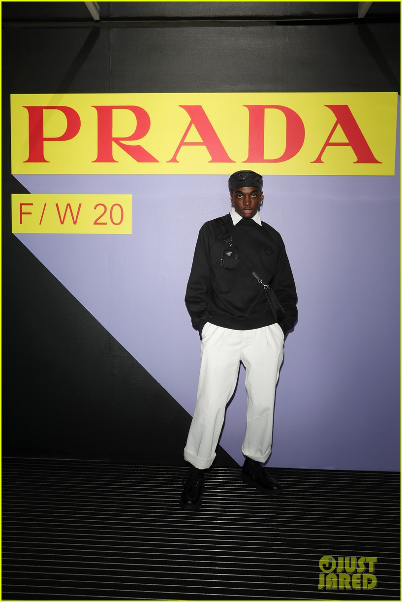 brenton thwaites joins barbara palvin dylan sprouse at prada show in milan 164415931