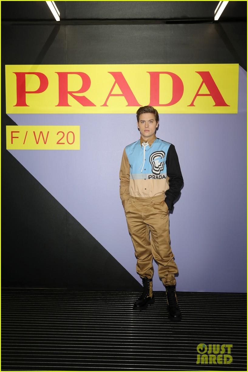 brenton thwaites joins barbara palvin dylan sprouse at prada show in milan 214415936