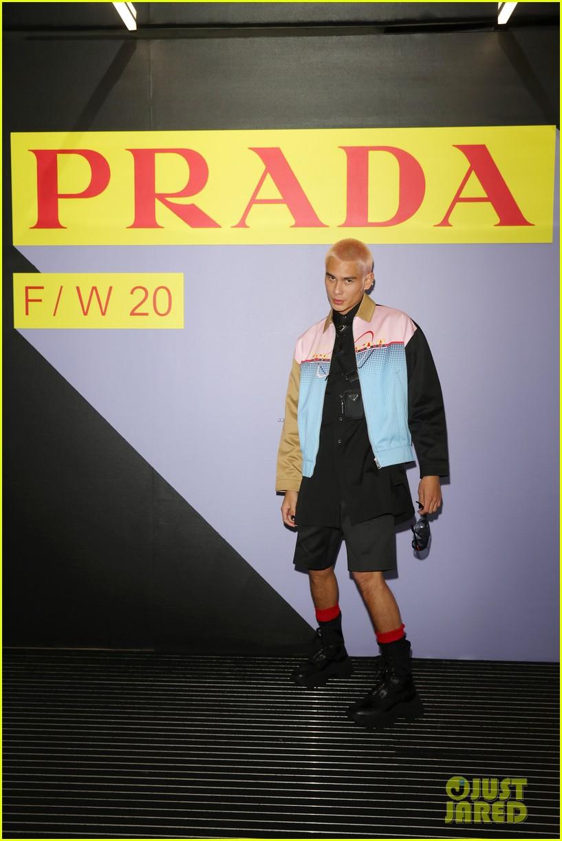 brenton thwaites joins barbara palvin dylan sprouse at prada show in milan 224415937