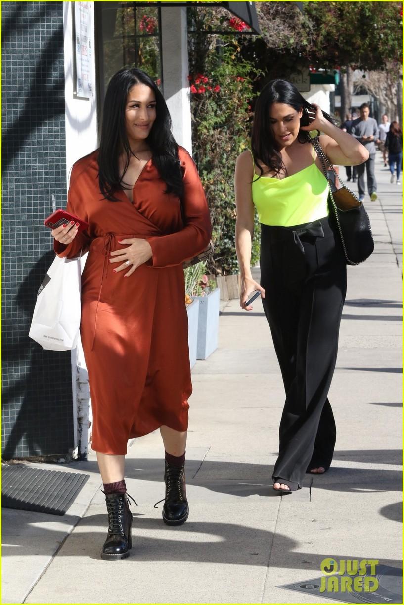 nikki  brie bella reveal their 'biggest' pregnancy