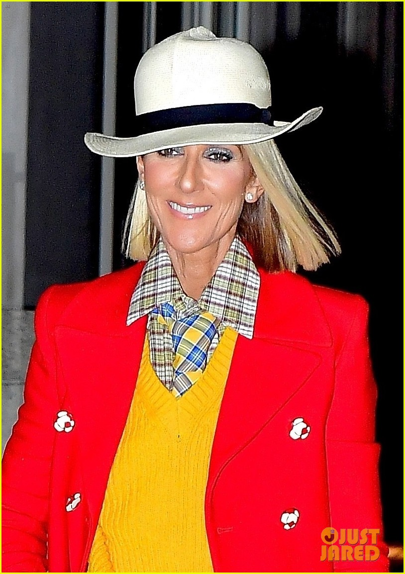 celine dion red yellow suit barclays 024443933