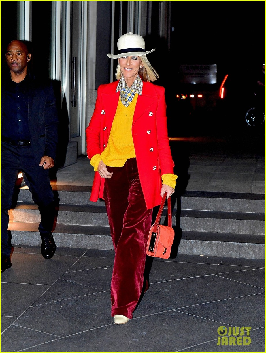 celine dion red yellow suit barclays 044443935