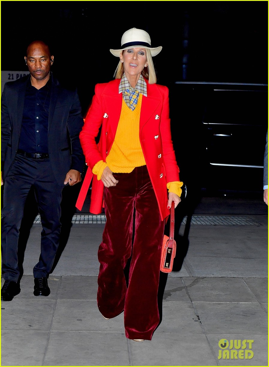 celine dion red yellow suit barclays 054443936