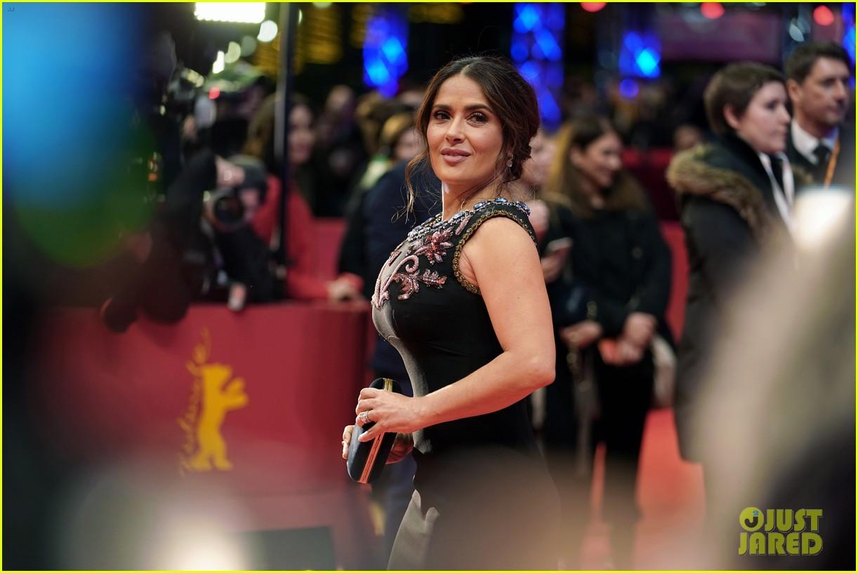 elle fanning salma hayek javier bardem premiere the roads not taken at berlin film festival 144442618
