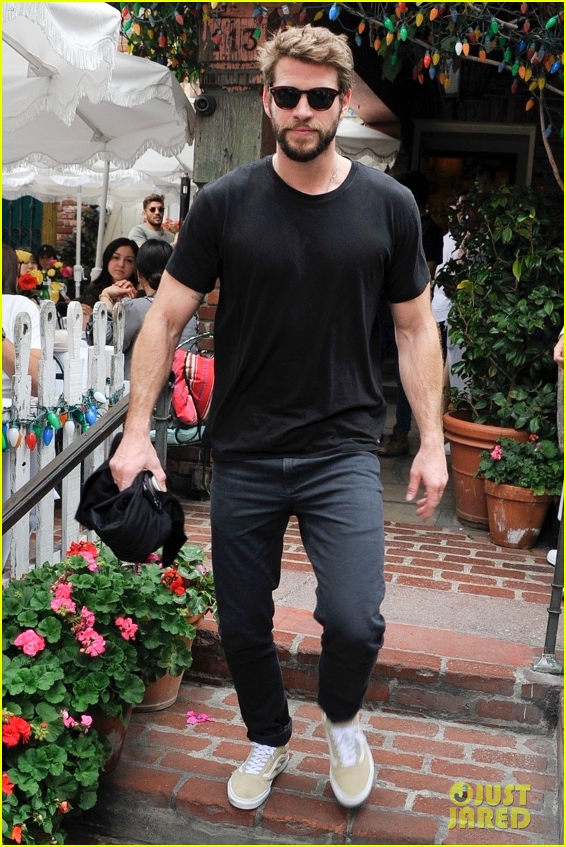 liam hemsworth girlfriend gabriella brooks grab lunch brother luke 014443299