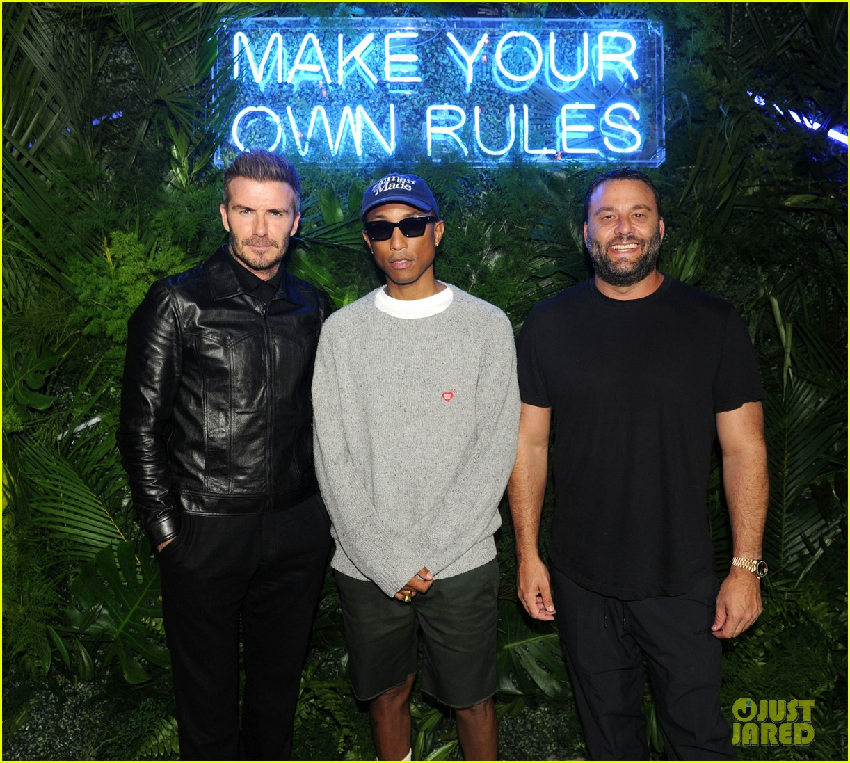 david beckham gets support from pharrell williams at haig club party in miami 014448443