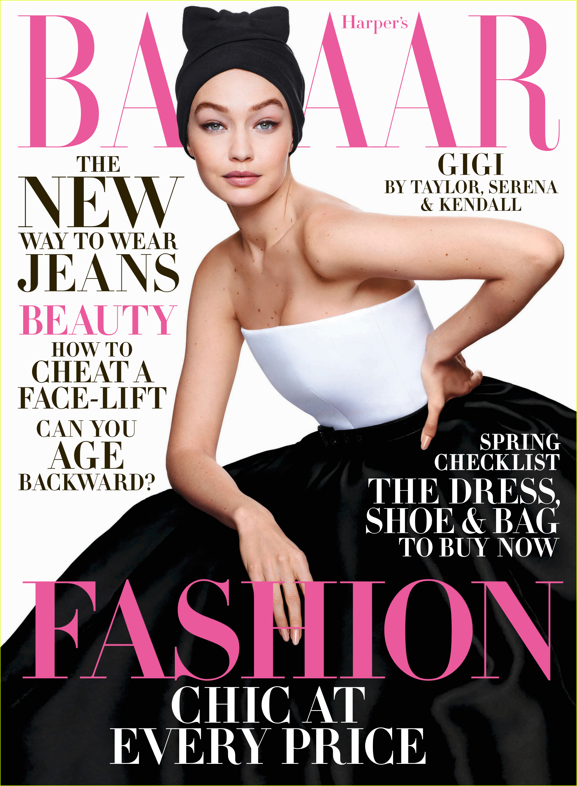 gigi hadid interviewed by taylor swift kendall jenner for harpers bazaar 024449682
