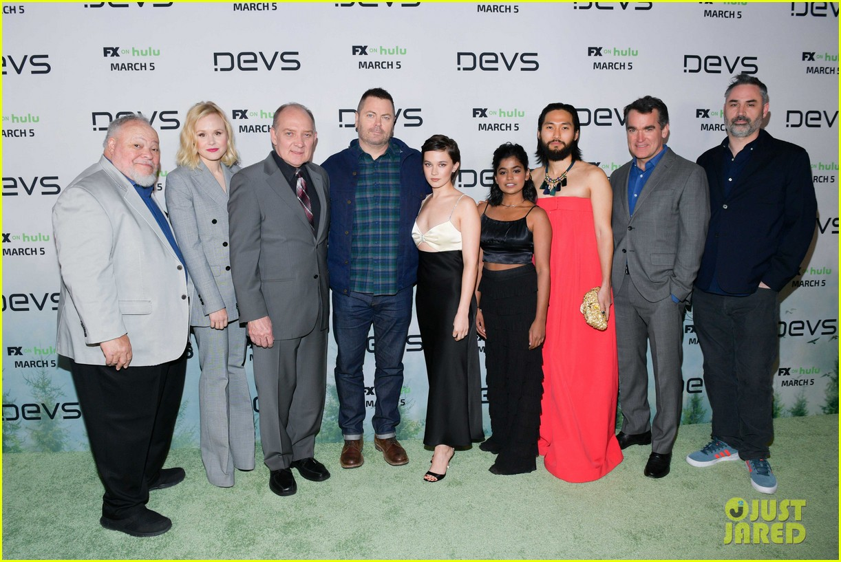 nick offerman jin ha devs castmates hollywood premiere 034445273