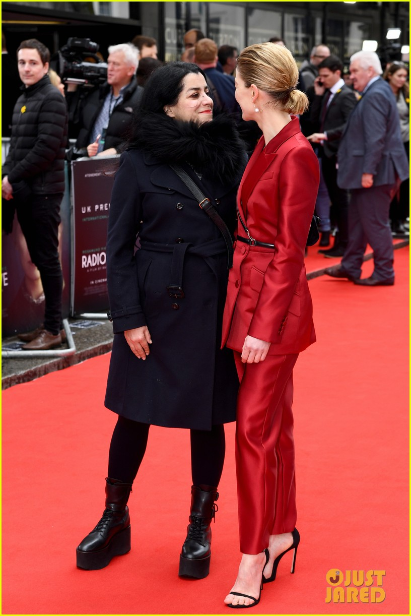 rosamund pike sam riley others radioactive uk premiere 084447298