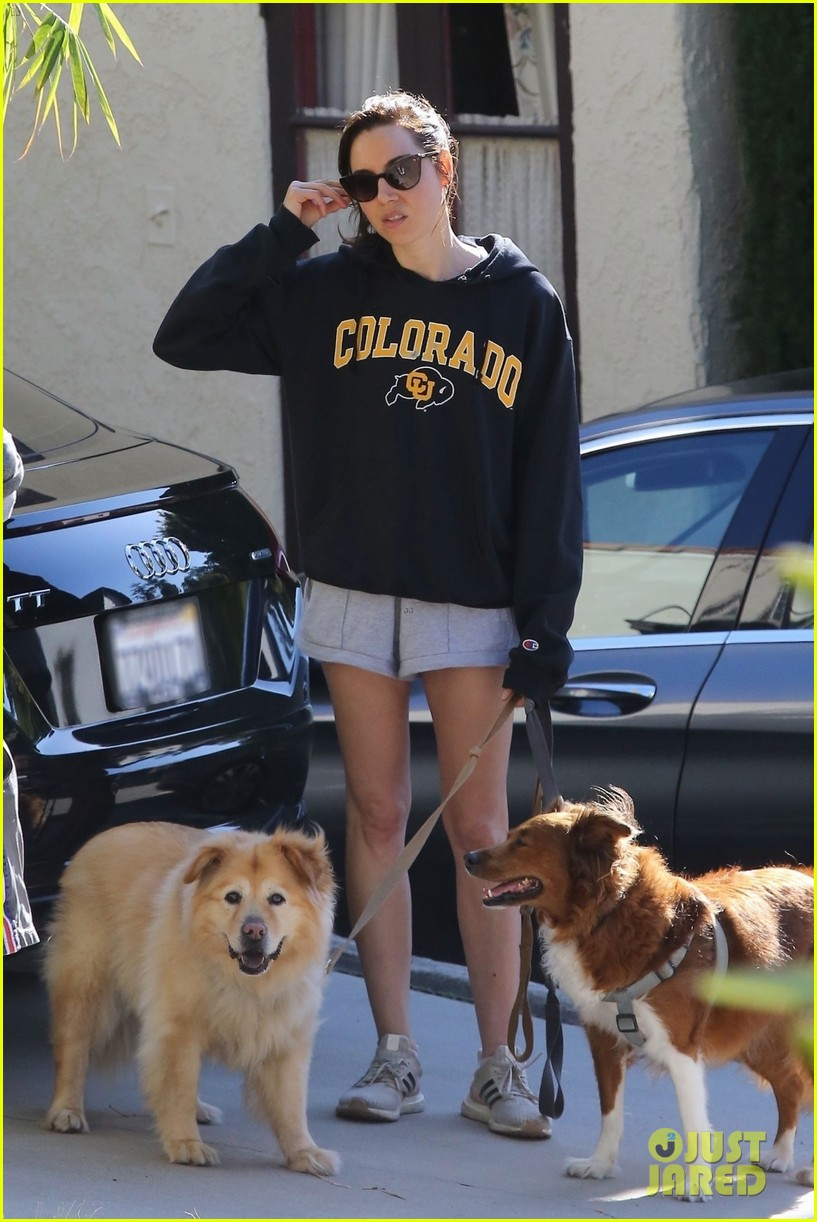 aubrey plaza takes her dogs for a walk in la 014451146