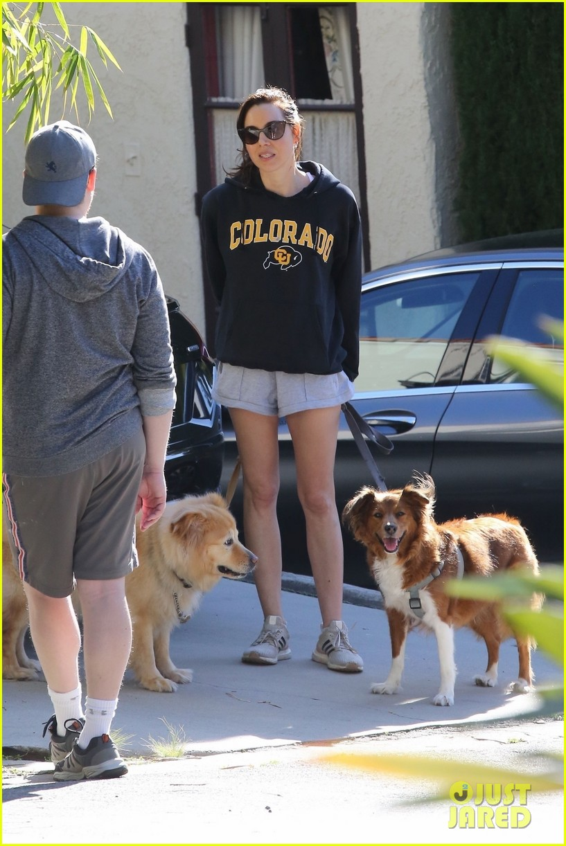 aubrey plaza takes her dogs for a walk in la 054451150