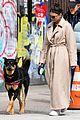 emily ratajkowski bundles up in long coat 04