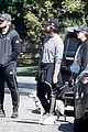 chris pratt katherine schwarzenegger walk with her family 05