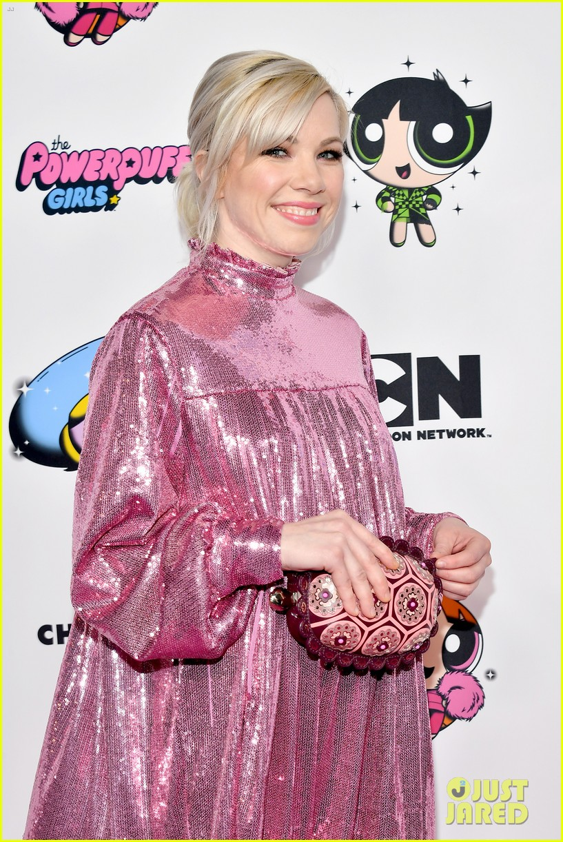 meghan trainor is bubbles at christian cowans powerpuff girls runway show 144447530