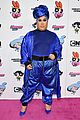 meghan trainor is bubbles at christian cowans powerpuff girls runway show 02