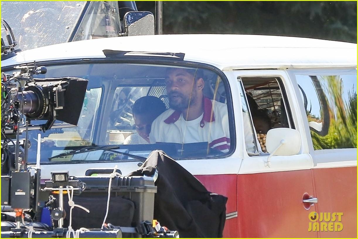 will smith drives van king richard set 014445519