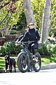 robin wright clement giraudet bike ride with dog 07