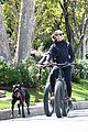 robin wright clement giraudet bike ride with dog 23