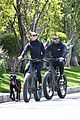 robin wright clement giraudet bike ride with dog 35