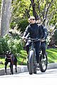 robin wright clement giraudet bike ride with dog 39