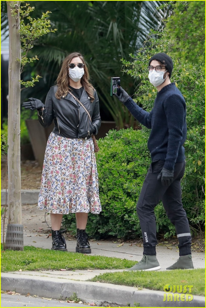 darren criss wife mia cover up for walk around their neighborhood 054454763