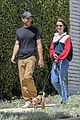 Photo 2 of Lily Collins & Boyfriend Charlie McDowell Take Their Pup for a Walk Amid Quarantine