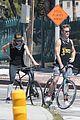 chris pine annabelle wallis bike ride 45