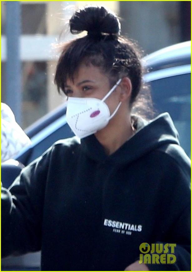 christina milian matt pokora wear masks while running errands 034452671