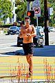 wells adams goes shirtless on a run 09