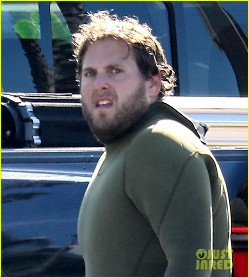 jonah hill slips into wetsuit for morning of surfing 024460076