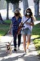 lily collins mom jill dog walk together 04