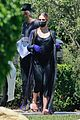 ashlee simpson evan ross wear mask gloves while house hunting 01