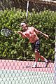 gavin rossdale goes shirtless playing tennis 35